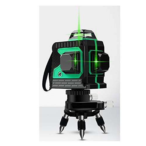 3D Oblique Laser Level 12 Groene lijn 360 ° Horizontale verticale lijn Draaibare fijnafstelbare voet Buiten Waterdicht Ingegoten wand Instrument Aardingsinstrument Schokbestendig