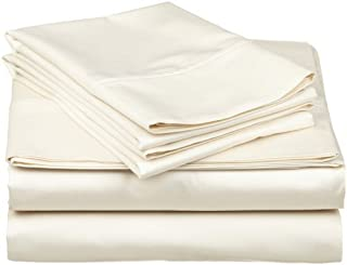 Luxurious Finish 500 Thread Count 4-PCs Sleeper Sofa Bed Sheets Set, 100% Egyptian Cotton - Solid Ivory ( Full Size 54