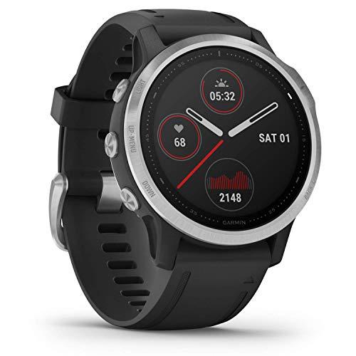 """Garmin Fenix 6 - GPS Smartwatch Multisport 47mm, Display 1,3"""", HR e saturazione ossigeno al polso, Pagamento contactless Garmin Pay, Colore Nero/Siver"""