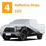 """NUOMAN Truck Car Cover Waterproof All Weather for Automobiles,6 Layers Hail UV Snow Dust Outdoor Full Cover Protection,4 Reflective Strips Universal Pickup Car Cover XXL (Fit Length 243"""" to 250')"""