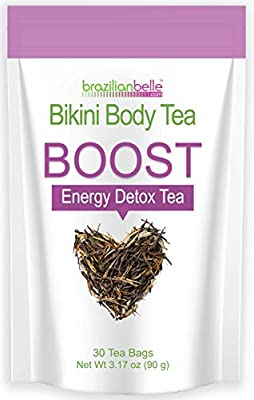 Bikini Body Energy & Detox Tea - Best Daytime Tea on Amazon - Boosts Metabolism, Cleanses, and Shrinks Love Handles