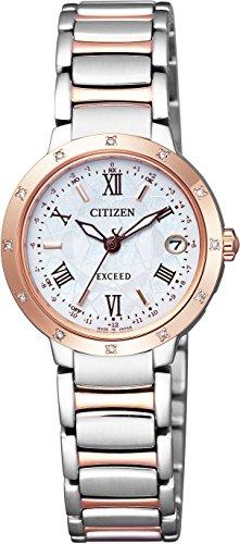 [シチズン] 腕時計 エクシード エコ・ドライブ電波時計 ティタニアライン ハッピーフライトシリーズ ES9334-58W マルチカラー