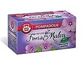 Pompadour 1913 Infusión de flor de malva hidratante y calmante con regaliz sin gluten - 1 x 20 bolsitas de té (30 gramos)