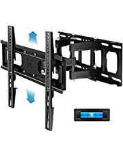 """Everstone Full Motion TV Wall Mount with Height Adjustment for Most 32-65 inch LED, LCD, OLED Flat&Curved TVs, Bracket Swivel Articulating Arms Extension Tilt up to VESA 400mm, 121lbs, 16"""" Wood Stud"""
