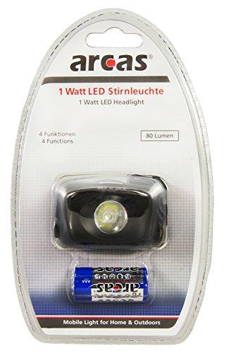 Arcas 30710011 307 10011 LED-hoofdlamp, 1 W, zwart