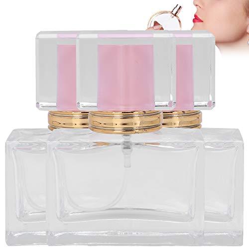 Atomizador de perfume de vidrio, botella de perfume segura, 3 piezas vacías para almacenar perfumes, mujeres, niñas, almacenamiento de sustancias líquidas(pink)