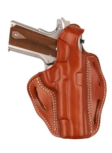 1791 Gunleather 1911 Holster - Thumb Break Leather Holster - Cocked and Locked Carry - Right Hand OWB Holster for Belts - Fit 4' and 5' Barrels
