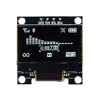 0.96インチ128 * 64 オレド表示モジュールブルー/ホワイト/イエロー SSD1306ドライバコントローラ LCD.画面 IIC I2Cインターフェース4ピン White