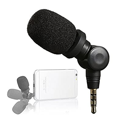 Saramonic Mini SmartMic Directional Condenser Flexible Microphone for Smartphones,Vlogging Microphone for iPhone and YouTube Video, Mic for iOS Apple iPhone 7 7s 8 X 11 6 6s iPad and Android Phone