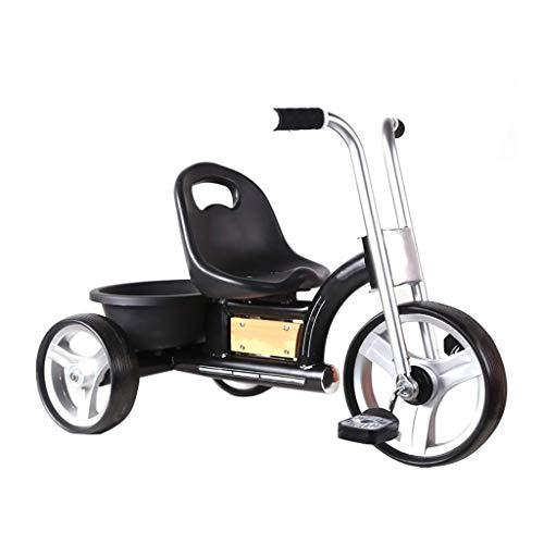 HKX Triciclo, Triciclo Retro multifunción para niños, desmontaje rápido y Rueda Inflable, Triciclo para bebés al Aire Libre, 2 Colores, 52 * 74 * 46 cm (Color: Negro)