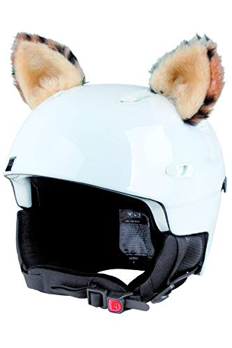 Crazy Ears Helm-Accessoires Ohren Katze Tiger Lux Frosch, Ski-Ohren geeignet für Skihelm, Motorradhelm, Fahrradhelm und vieles mehr, CrazyEars:Luchs Ohren