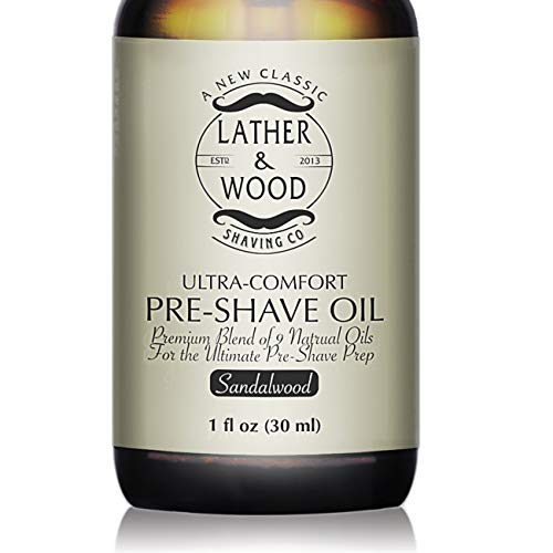 Best Pre-Shave Oil, Sandalwood, Premium Shaving Oil for Effortless Smooth Irritation-free Shave. 1oz