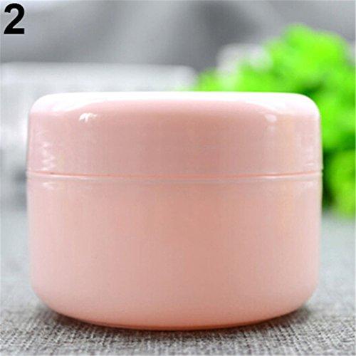Lot de 5 pots de voyage vides pour crèmes, lotions visage, maquillage rose rose 20