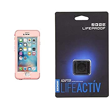 Lifeproof NÜÜD SERIES iPhone 6s Plus ONLY Waterproof Case  5.5  Version  - Retail Packaging - FIRST LIGHT  PINK JELLYFISH/CLEAR/SEASHELLS PINK  and Lifeproof LifeActiv Quickmount Adapter - Mount - Retail Packaging - Black Bundle
