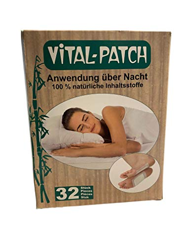 Detox Fußpflaster - 32 Stück Pflaster Detox , Fußpflaster zur Entgiftung, Schmerzlinderung , Gesundheitspflege , Entgiftung , Fussplege-Pads 32pc mit Klebefolie