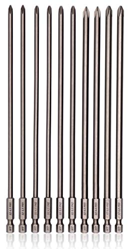 Milliontronic Extra Long Philips Head Screwdriver Bit Set 200mm/7.9-inch Long, PH1, PH2