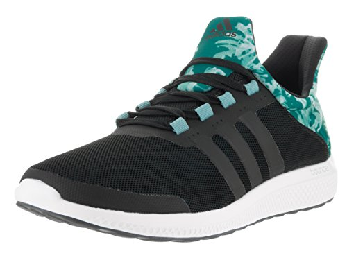 adidas Women's CC Sonic W Running Shoe, Black/Clear/Green, 9 M US