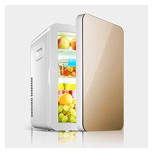 SHUHANG Mini refrigerador del refrigerador 20L refrigerador de automóvil con refrigeración de Doble núcleo Panel de Compartimento extraíble bajo decibelio (Color : 33x28.5x41cm, Size : Gold)