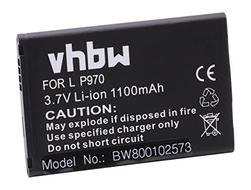 vhbw Li-Ion Batería 1100mAh (3.7V) teléfono móvil Smartphone LG Optimus D150, E400, E410, E610, E730, L1 II, L35, Net, P690, VS700 sustituye BL-44JN.