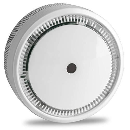 SEBSON 10 Jahres Mini Rauchwarnmelder, EN 14604, VDs 3131, Q Siegel, fotoelektrischer Rauchmelder GS522 Lithium Batterie Stummschaltung Ø72 x 32mm