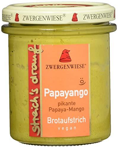 Zwergenwiese Bio Aufstrich streichs drauf Papayango (pikante Papaya-Mango) laktosefrei, 160 g