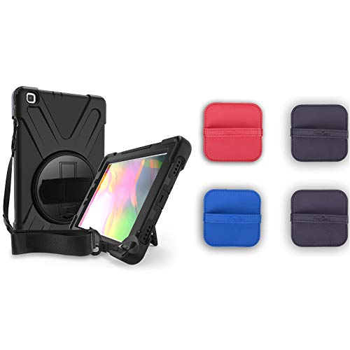 ProCase Galaxy Tab A 8.0 2019 Rugged Case T290 T295 Bundle with 4 Pack Screen Cleaning Pad Cloth Wipes for Cellphone, Computer, Camera, TV Screens