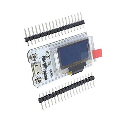 nJiaMe ESP32 OLED-Display WiFi Bluetooth Internet 0.96inch Development Board ESP32 Chip Module Weiß