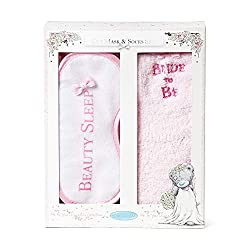 Official Me to You wedding 'bride-to-be' Gift set Gift set contains 'bride to be' Socks and 'beauty sleep' Eye Mask Bed socks Women's size 4-7 Presented in a beautifully illustrated floral glittery gift box The perfect Engagement gift for any bride-t...