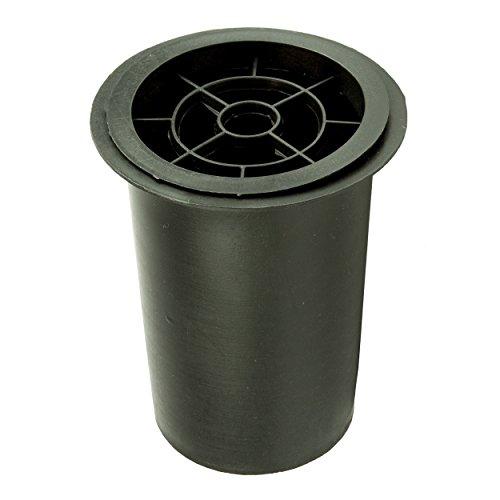 Vaso per Tomba plastica 11,8x15cm Nero
