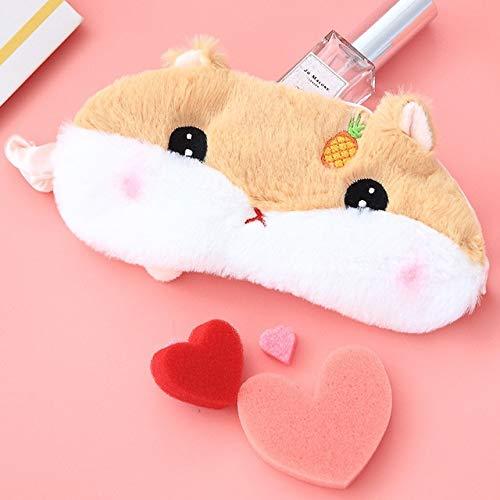 5 Arten Karikatur-Plüsch-Hamster-Augen-Masken-Schatten-Licht-Abdeckungs-Maske Plüsch-Tier-Frucht-Hamster-Augen-Maske Kind-Mädchen-Geschenke Ananas