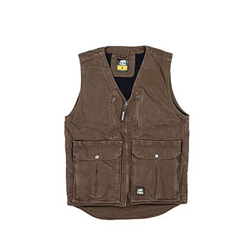 Berne Men's Echo One Zero Vest, Small Regular, Bark