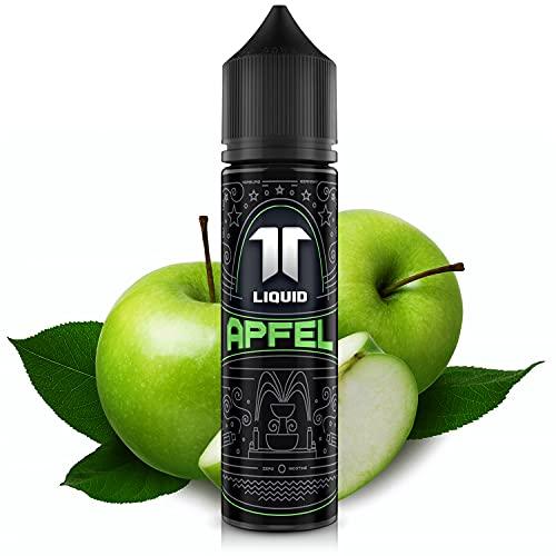 Elf-Liquid ® Apfel | 100% MADE IN GERMANY | Premium E Liquid ohne Nikotin für E Zigarette & E Shisha | 10ml E Liquid Vape Aroma in 60ml Flasche zum selber Mischen