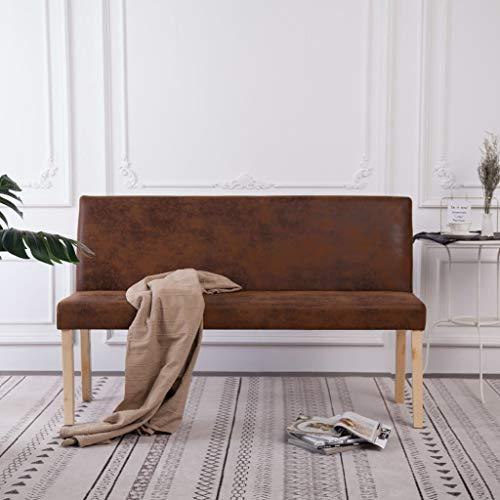 Tidyard Sofá Banco con Respaldo Dormitorio Salón Mesa Sofá 139,5 cm