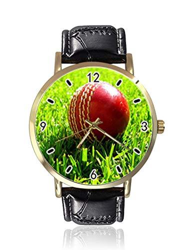 Cricket - Reloj de Pulsera para Mujer, Unisex, de Piel, Casual, de Cuarzo, para Hombre