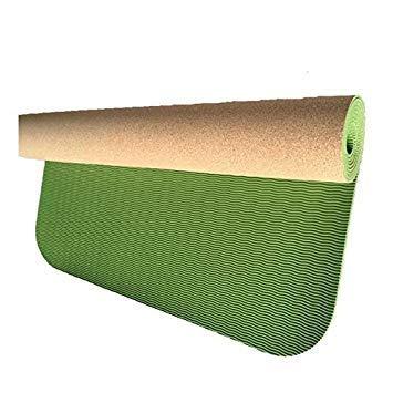 MHKJ Anti-slip Natuurlijke TPE+Kurk Merk Yoga Mat Antibacteriële Bad Tapijt Ademende Gymnastiek Matten Sportmatten Oefening Pads