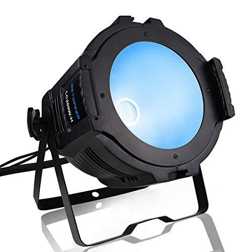 BETOPPER パーライト LED ステージライト ウォッシュライト COB 200W RGB DJ DMX512 舞台照明 ムービングライト オート 音声起動 ストロボ プロフェッショナル 超明るい 演出/舞台/結婚式/ディスコ/パーティー/教会堂