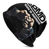 Lsjuee EPMD Skull Caps Sombrero de punto para adultos Casual Unisex Moda cálido Sombrero suave Cómodo Invierno Negro