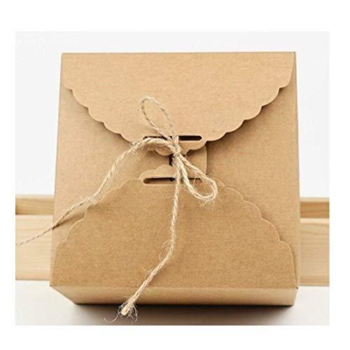 Depory Caja de papel Kraft para tartas y pasteles; 5 unidades de color marrón y tamaño 14,2x 14,2x 8cm, de