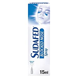 Sudafed Blocked Nose Nasal Spray 15 ml, Congestion Relief that Gets to Work in 2 Minutes and Lasts f