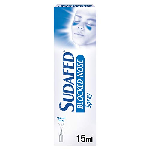 Sudafed Blocked Nose Nasal Spray 15 ml, Congestion Relief that Gets to Work...