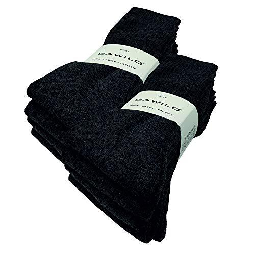 GAWILO 10 Paar stabile Army - Jäger - Freizeit Socken aus strapazierfähiger Baumwolle (43-46, grau)