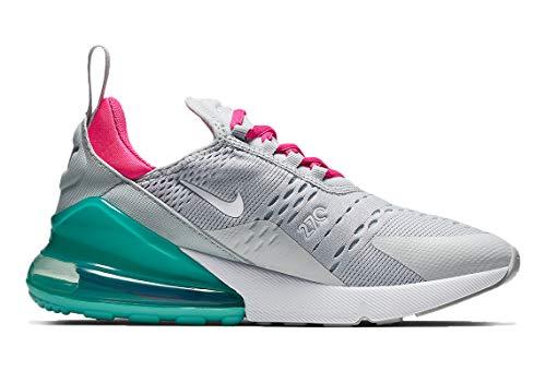 Nike Air MAX 270, Zapatillas de Atletismo para Mujer, Multicolor (Pure Platinum/White/Pink Blast 065), 39 EU