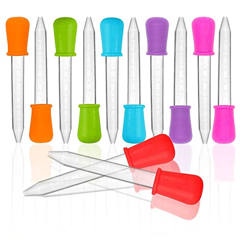 Gotero líquido de 12 piezas, pipeta de silicona, gotero con punta de pera, se puede utilizar para dulces, aceite, cocina, niños, producción de plastilina