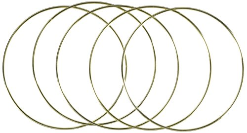 Darice Metal Ring Gold 8 inches (6-Pack) 1721