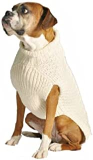 Natural Cable Dog Sweater