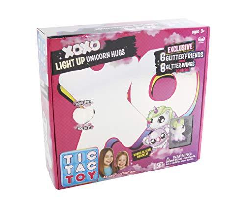 Blip Toys Tic Tac Toy XOXO White Light Up Unicorn Hugs & Glitter Friends