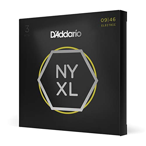 D'Addario NYXL0946-P - Cuerdas para guitarra eléctrica (níquel enrollado, parte superior superligera/parte...