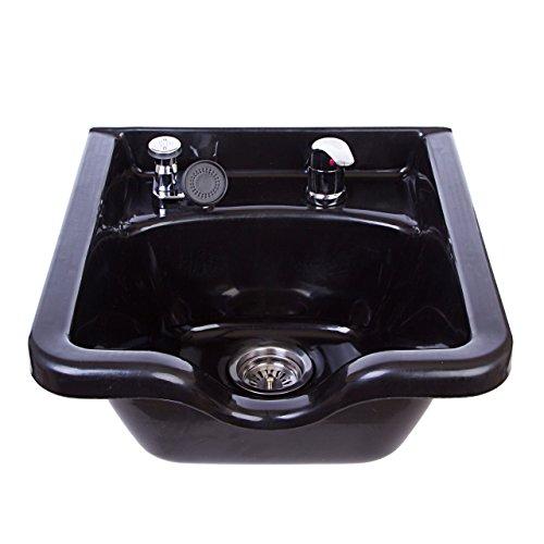 Square Shampoo Bowl Black ABS Plastic Salon and Spa Hair Sink Beauty Salon Equipment TLC-B11