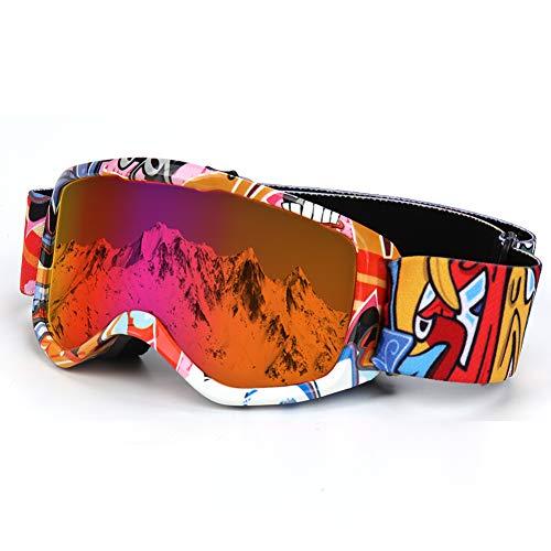 Flantor Kids Ski Goggles Non-Slip Strap Snow Goggles Snowboard Goggles