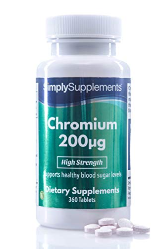 Cromo 200mcg - ¡Bote para un año! - Apto para veganos - 360 Comprimidos - SimplySupplements